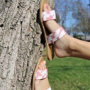 🆕//The Summer// Mauve tie dye Sandals